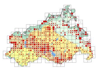 Verbreitungskarte der Offenen Moorvegetation der Sauer-Zwischenmoore