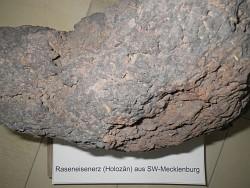 Abb. Raseneisenerzprobe aus der Landessammlung des Geologischen Dienstes Mecklenburg-Vorpommern