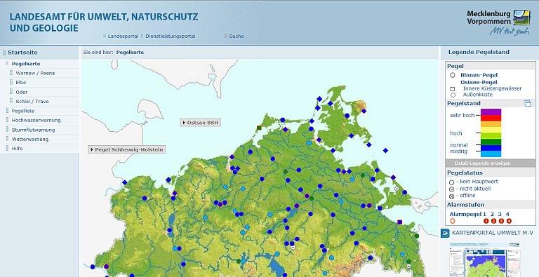 Mecklenburg ostseeküste karte vorpommern Mecklenburg