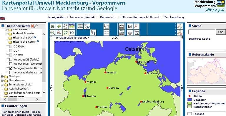 Karte Mv Kostenlos.Landesamt Fur Umwelt Naturschutz Und Geologie Mecklenburg