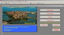 Bildschirmfoto der Wasserbuch-Software