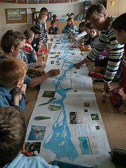 Wasser bei uns, Wasser auf der Erde, Projekt der BQG Umwelt und Arbeit Bützow und Umgebung e.V. an d